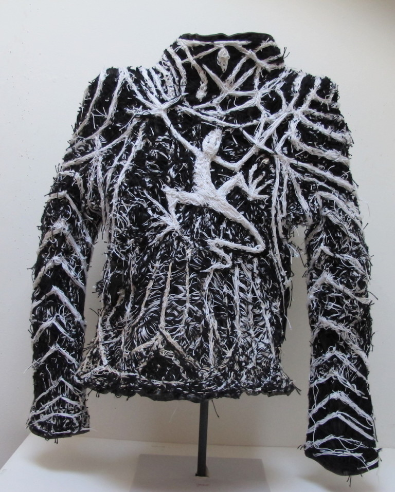Recent, undated, mixed-media work by Robert Adale Davis, made with string and cloth jacket, variable dimensions (photo courtesy of American Primitive Gallery)