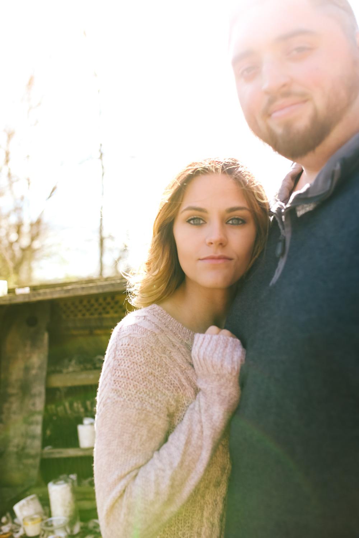 rustic engagement photo