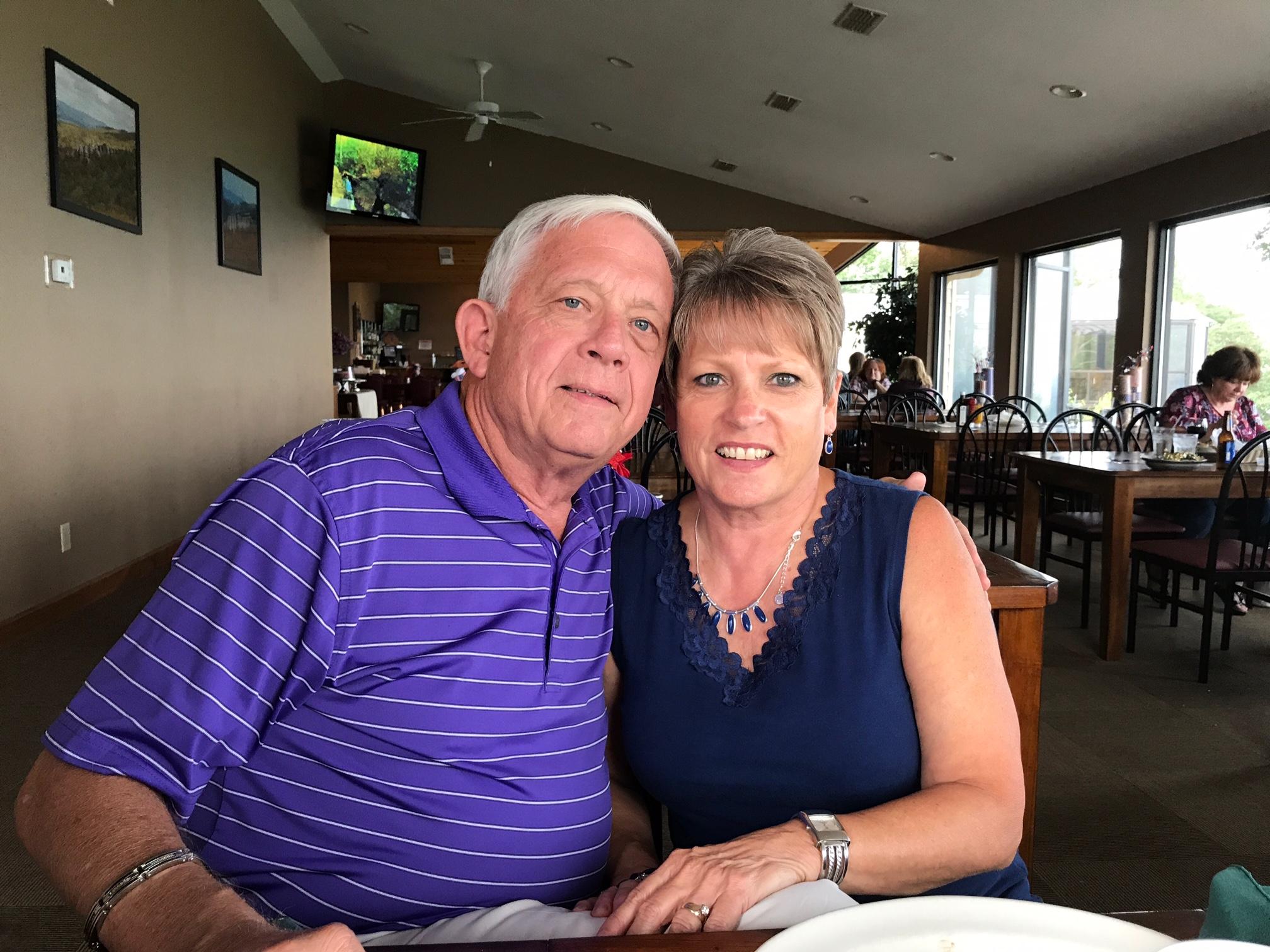 Financial SecretaryDebbie Greiwe - and husband Nick
