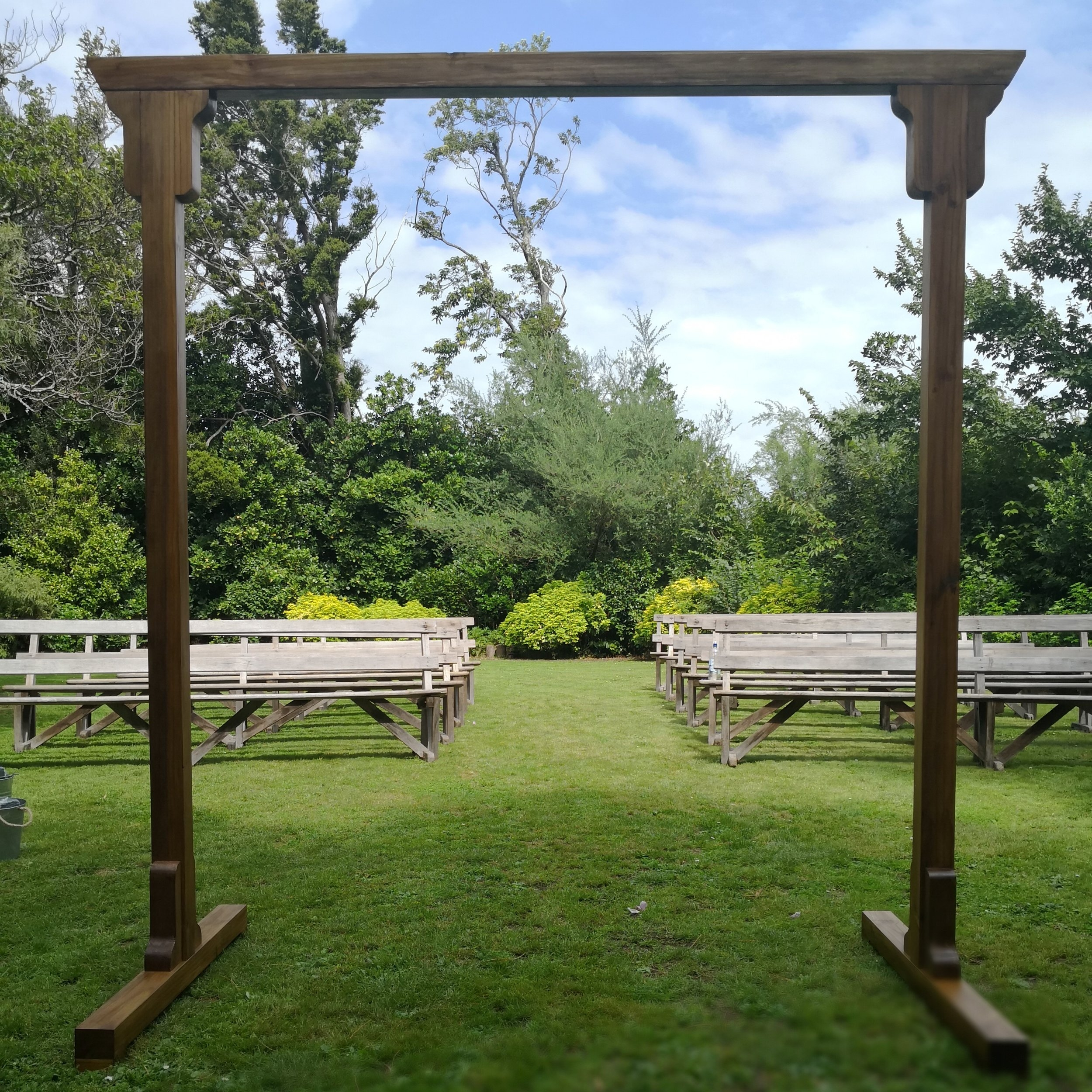 ORNAMENTAL ARCH I $120  2300Hx2250W  Dark ornamental arch  A ready to use arch with a stunning dark coat is great for an elegant touch in a garden style wedding. This can stand on its own or be customised.  *Breaks into 3 pieces for easy transportation & setup