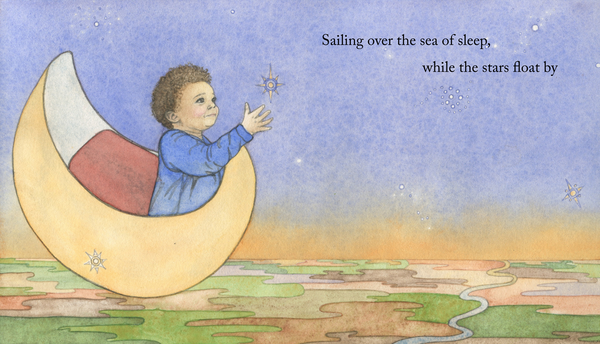 Children's Book: While the Stars Float By