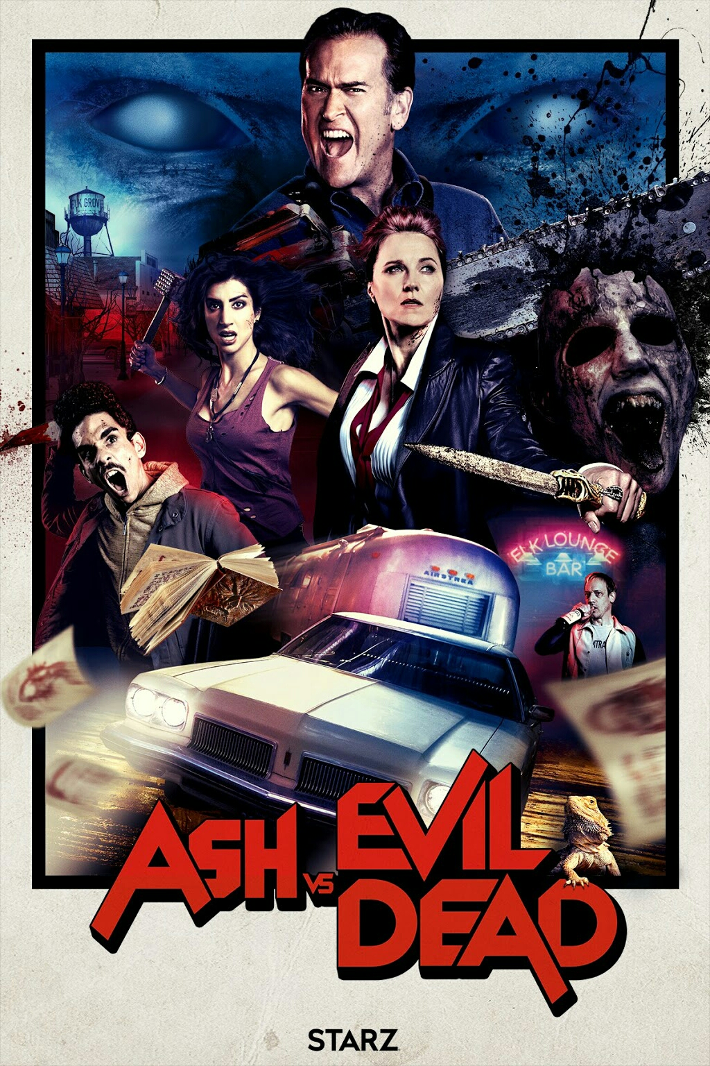 Appropriately amazing new poster to celebrate the upcoming season of Ash's continued battle vs evil (dead).