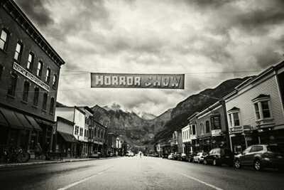 """The Telluride Horror Show, Colorado's first and longest-running horror film festival, returns for its 7th edition October 14-16, 2016. Every year, the festival attracts the latest & best horror films from all over the world and attendees from all over the country for an intimate gathering of genre film fans in the world-famous mountain resort town of Telluride, Colorado. For three days and nights, experience an eclectic mix of horror, suspense, thriller, fantasy, sci-fi and dark comedy in Telluride's historic Sheridan Opera House and Nugget Theatre, with many of the films showing for the first time in the US. The festival features an average of 25 feature films and 50 short films, and hosts special programs, guests, and events. If you love horror, and film, then you can't miss this fest.   Named one of the """"20 Coolest Film Festivals"""" by Moviemaker Magazine."""