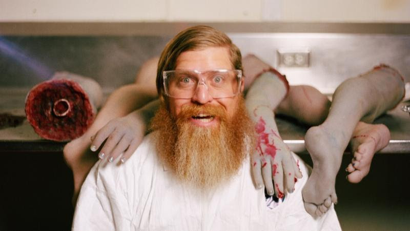 This is Pool Party Massacre's Writer-Director Drew Marvick. He loves horror and has an awesome beard.