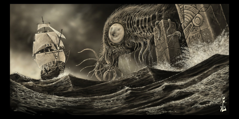 Terrifying illustration by Deviantart member  fiend-upon-my-back