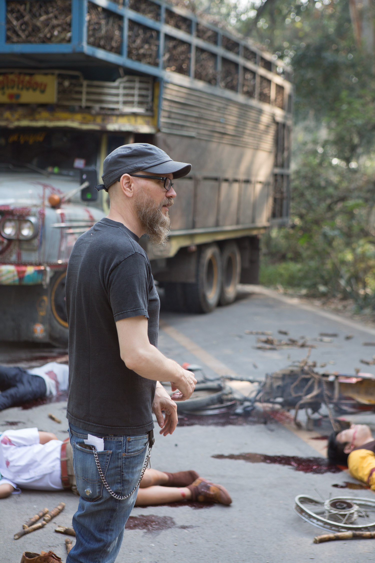 Director Rich Ragsdale on the set of Ghost House-3.jpg