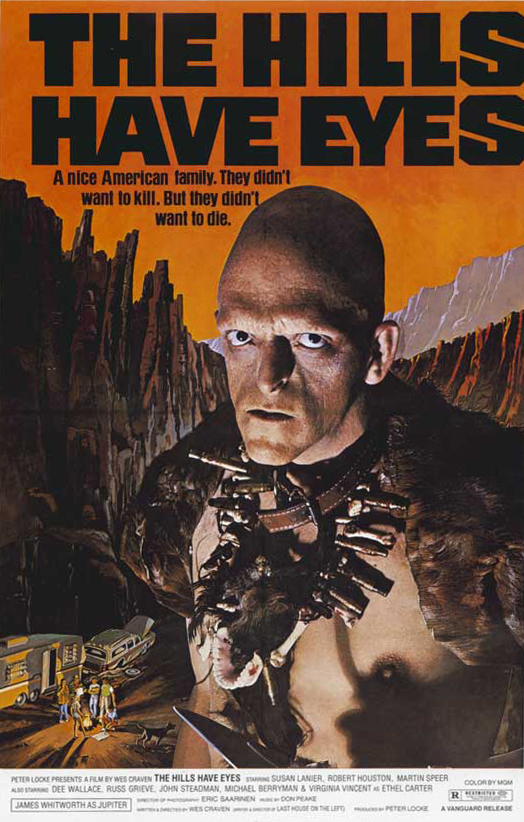 """My first introduction to """"The Hills Have Eyes""""universe was with Aja's 2006 remake. It was an intense, blood soaked ride, that hit me like a sledgehammer across the face.    Fast forward to now... the 30 year horror addict in me always regretted not going back to view Craven's vision. I was really surprised to see the remake was almost beat for beat what the original was. The only exception, besides budget; Aja's film dove a little deeper and gave more to the characters and backstory.    Craven's Hills is very """"of it's time"""", and stays in line with most of his earlier work. You can easily argue that it hasn't aged well or maybe it was just intended to be messy. I always felt like Craven's early work is just him having fun and not really focusing much on giving a shit. That may be a turn off for some, but its given us some pretty wacky exploitation with jarring tonal shifts....    Anyways...    While I won't be revisiting this as much as the 2006 version, I still had a fun time. If you are in the mood for some clumsy grindhouse trash Hills is perfectly serviceable."""