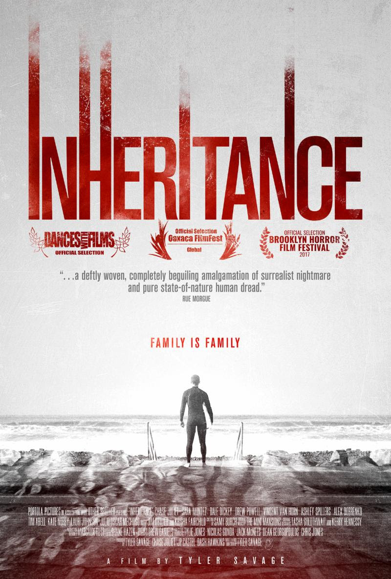 Tyler Savage's Inheritance Debuts on Digital HD TodayFestival Favorite Twists the Question of Nature vs. NurtureAvailable Nationwide on iTunes and Amazon Instant Video - Los Angeles, CA - Portola Pictures has announced the June 15th Digital HD release of Tyler Savage's Inheritance.  Savage directed from his own script, putting a chilling twist on the universal feeling of being trapped by your family history, for better or worse.  Following the world premiere at Dances with Films, Inheritance has received high marks at festivals around the country.  Dread Central raved,