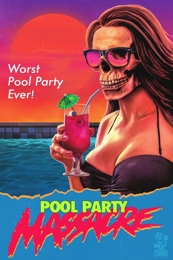 "Come on in, the water's f*GYACK* - ""What started out as a relaxing summer day by the pool for a group of high maintenance young socialites quickly becomes a nightmare, when an unknown killer begins stalking and murdering them one by one."""