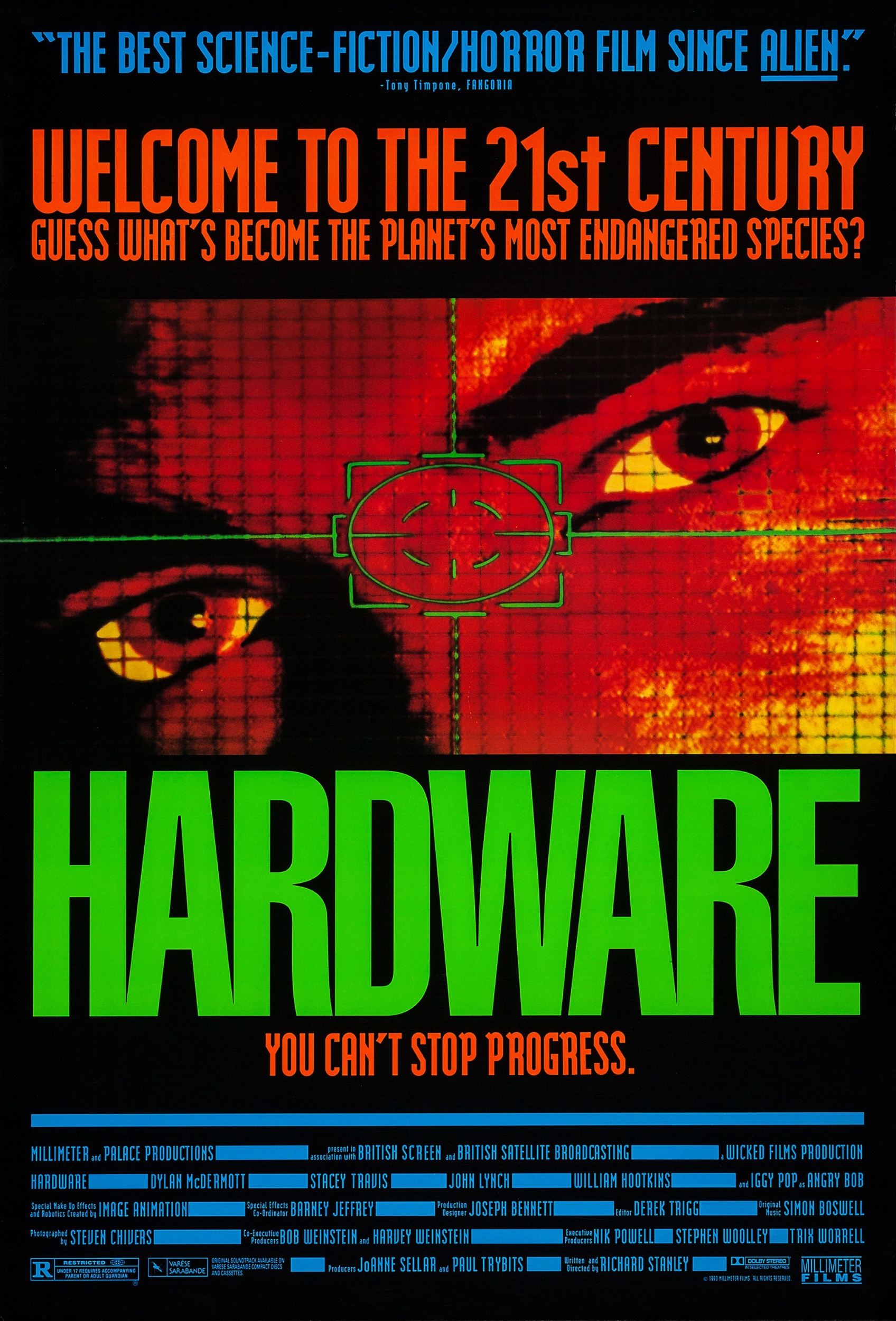 In an America ravaged by atomic warfare, nomads spend their days scavenging for scrap in a blasted landscape. That's how ex-soldier Moses Baxter (Dylan McDermott) comes into possession of some spare android parts. He buys them as a present for his artist girlfriend, Jill (Stacey Travis), who plans to put them in a sculpture. What they don't know is that the pieces come from a new kind of android that is capable of reassembling itself -- and is programmed to kill.