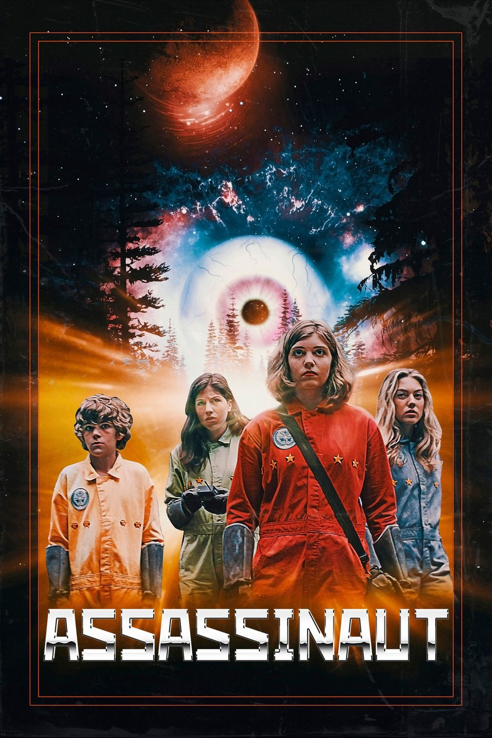 A team of four teenage astronauts braves the alien wilderness of a distant planet to save Earth's president from a deadly assassin.