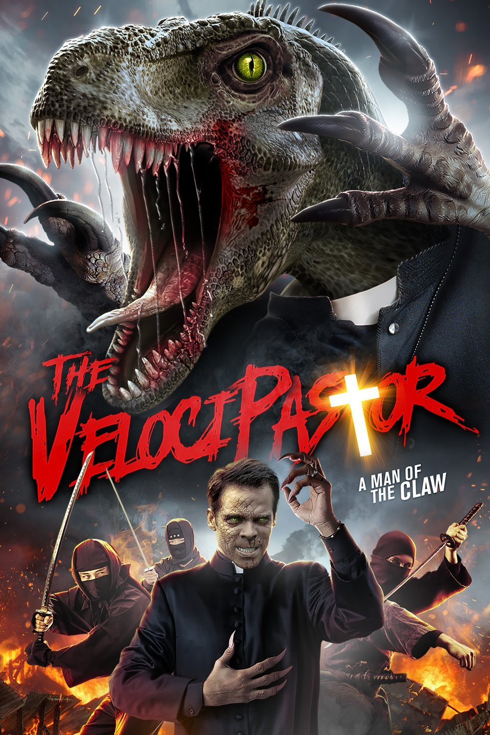 After losing his parents, a priest travels to China, where he inherits a mysterious ability that allows him to turn into a dinosaur. Although he is horrified by the new power, a hooker convinces him to use it to fight crime.