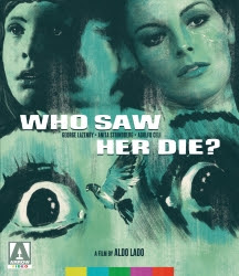 - Who Saw Her Die?Former Bond star George Lazenby (On Her Majesty's Secret Service, The Man from Hong Kong) headlines this classic giallo directed by Aldo Lado (Short Night of Glass Dolls, Night Train Murders) ¬-as compelling for its haunting atmosphere, twists and turns as for its parallels with another great Venetian horror/thriller - Nicolas Roeg's Don't Look Now.BLU-RAYSKU: AV214UPC: 760137279983SRP: 39.95Street Date: 09/17/19PreBook Date: 08/13/19Label: Arrow VideoGenre: HorrorLanguage: ItalianRun Time: 90 mins High-res Cover Art (JPG