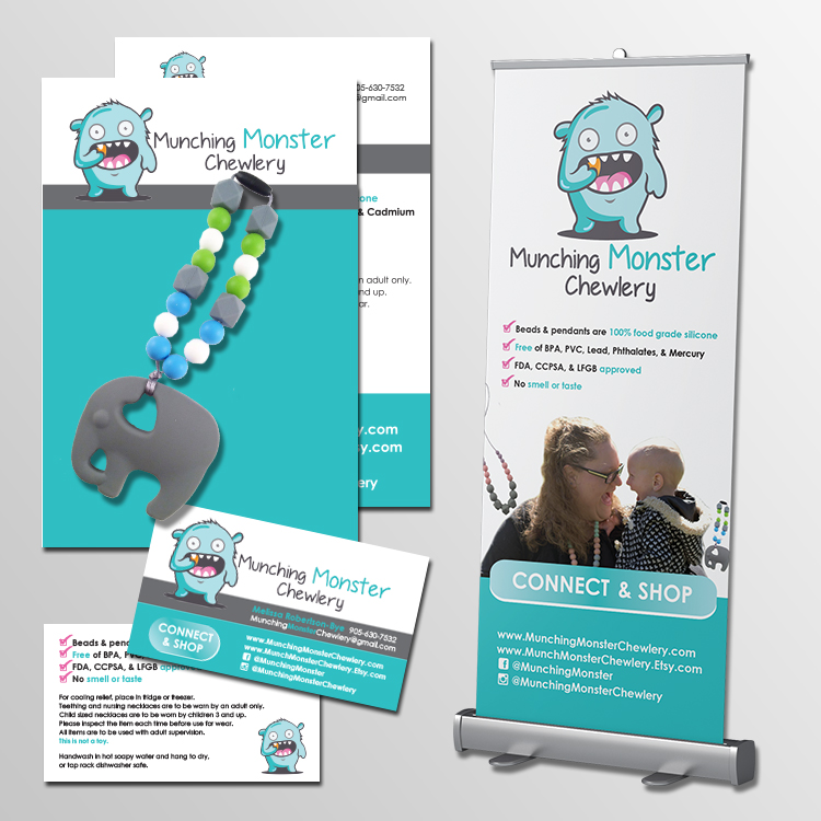 """""""Beth redesigned my business cards, sign and packaging. She is very quick, professional and amazing at what she does. I look forward to working with her again in the future""""  - Melissa Robertson Bye"""