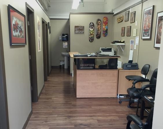 True Grit Tattoos:  480 Brant St. #8, Burlington, ON.