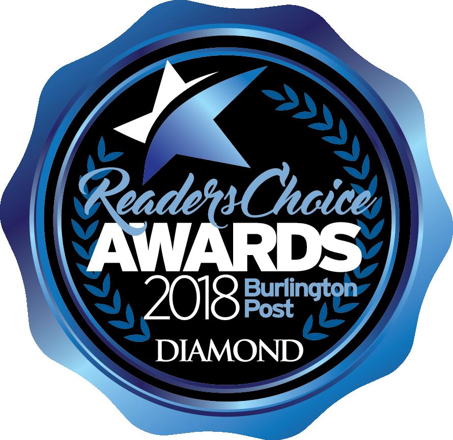 2018 Diamond Burlington Readers' Choice Award for Graphic Design