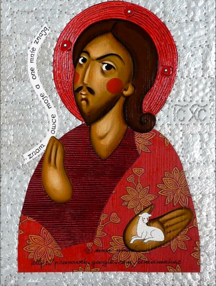 Icon of Jesus Christ by Anna Macac.  via