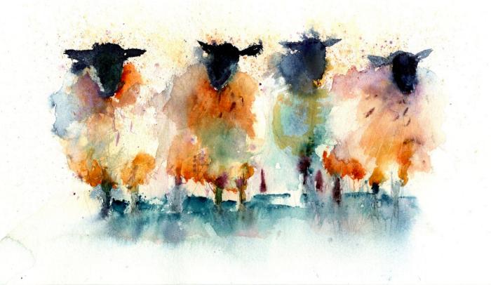 Artist Jen Buckley makes beautiful sheep art. Find it  here .