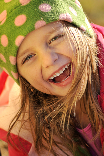 Girl smiling and laughing