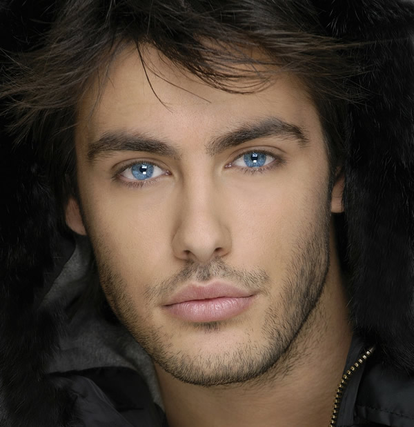 man with attractive eyes
