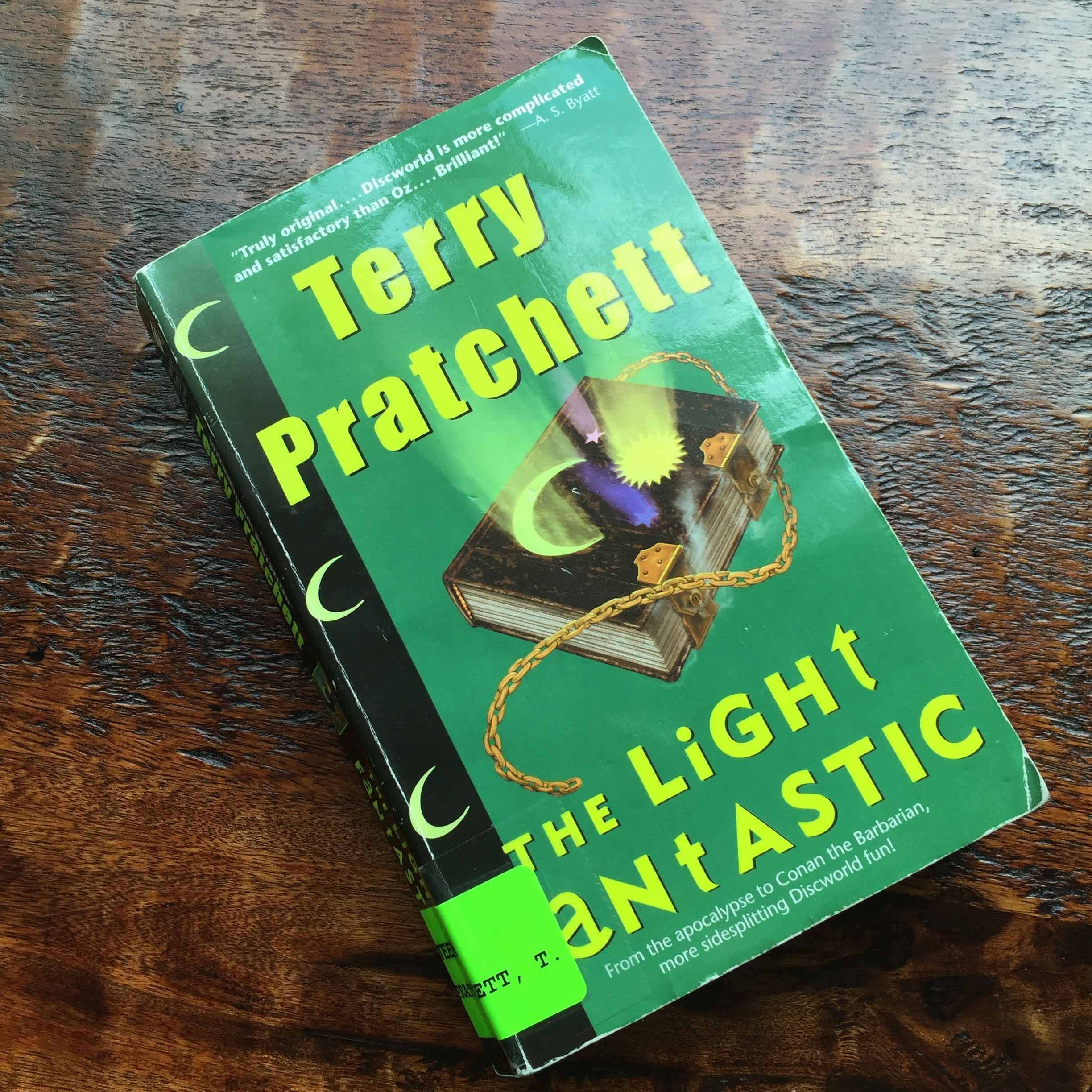 I am currently reading this book, Terry Pratchett's second in the Disc World series.