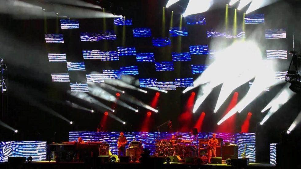 Phish LED screen light show from Wrigley Field June 2016. Source:  Jambase.com article
