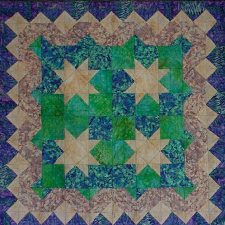First quilt based on online directions from about.com in 1998.