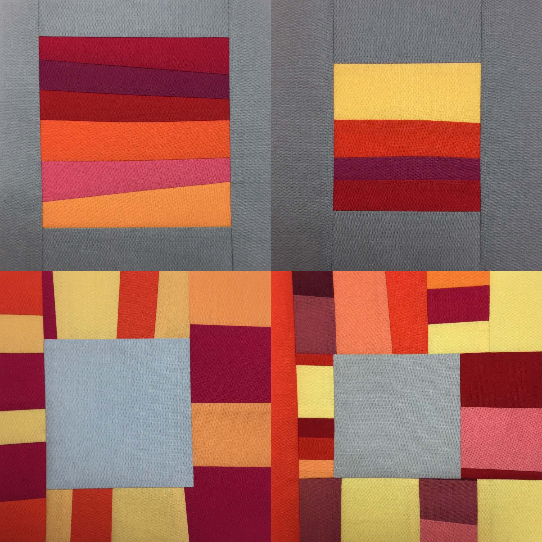 2 Daily Squares of my current Inverse Windows  series shown in upper portion and 2 Daily Squares of the  Windows  series shown below.