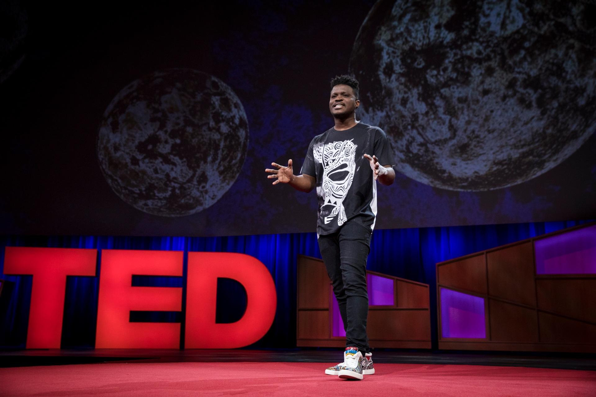 "Laolu Senbanjo in TED talk ""The Sacred Art of the Ori"""