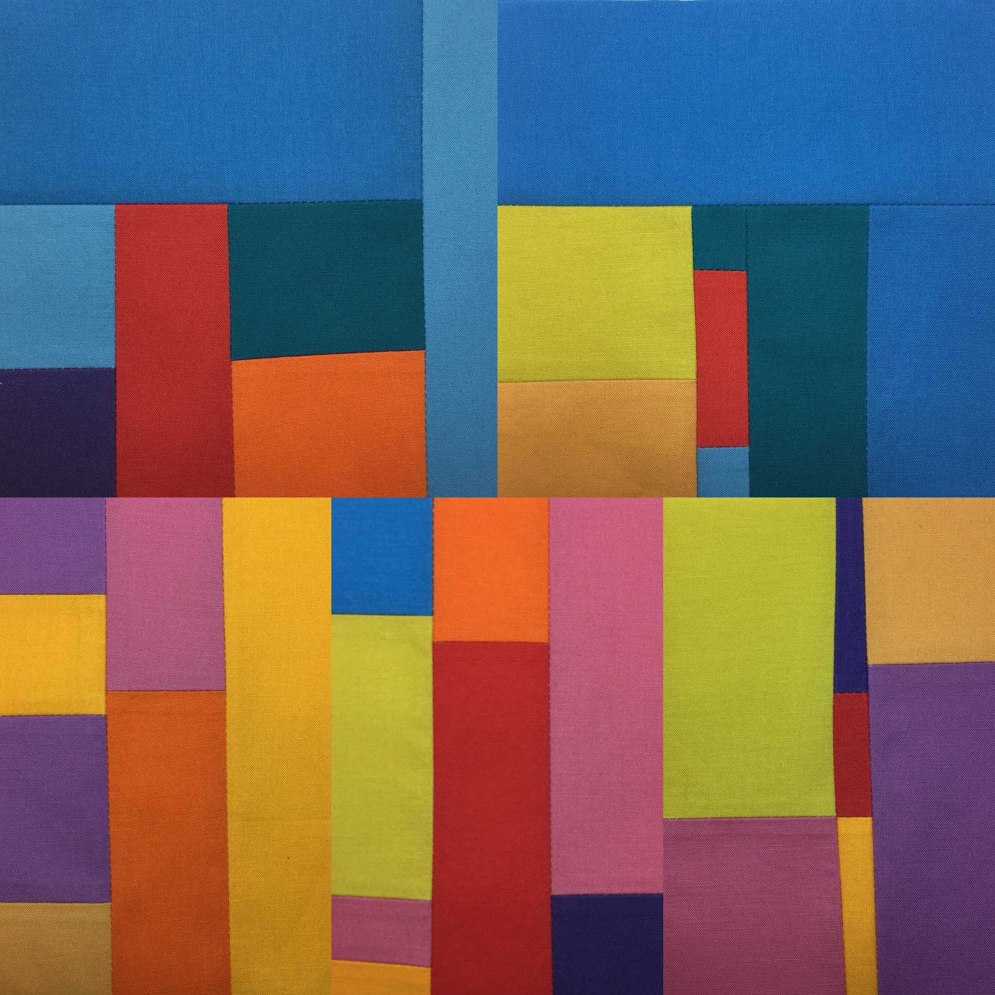 Four squares together from my current Coral Reef-Lizard Island series