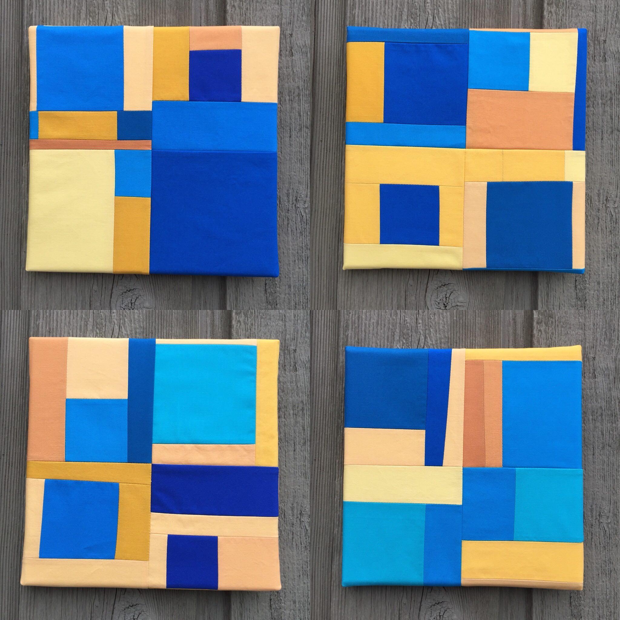 Blue Square Nos. 1 through 4