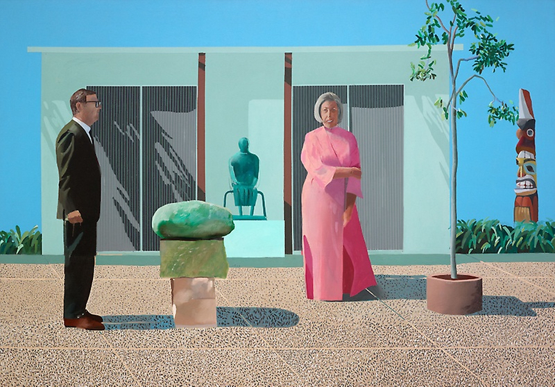 David Hockney English, born 1937.© David Hockney . Image from American Collectors (Fred and Marcia Weisman), 1968 Source:  Art Institute of Chicago