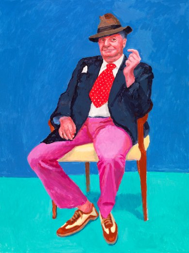 Image: David Hockney,Barry Humphries, 26th, 27th, 28th March 2015 from 82 Portraits and 1 Still-life, 2015, courtesy of the artist, © David Hockney, photo by Richard Schmidt Source:  LAMCA