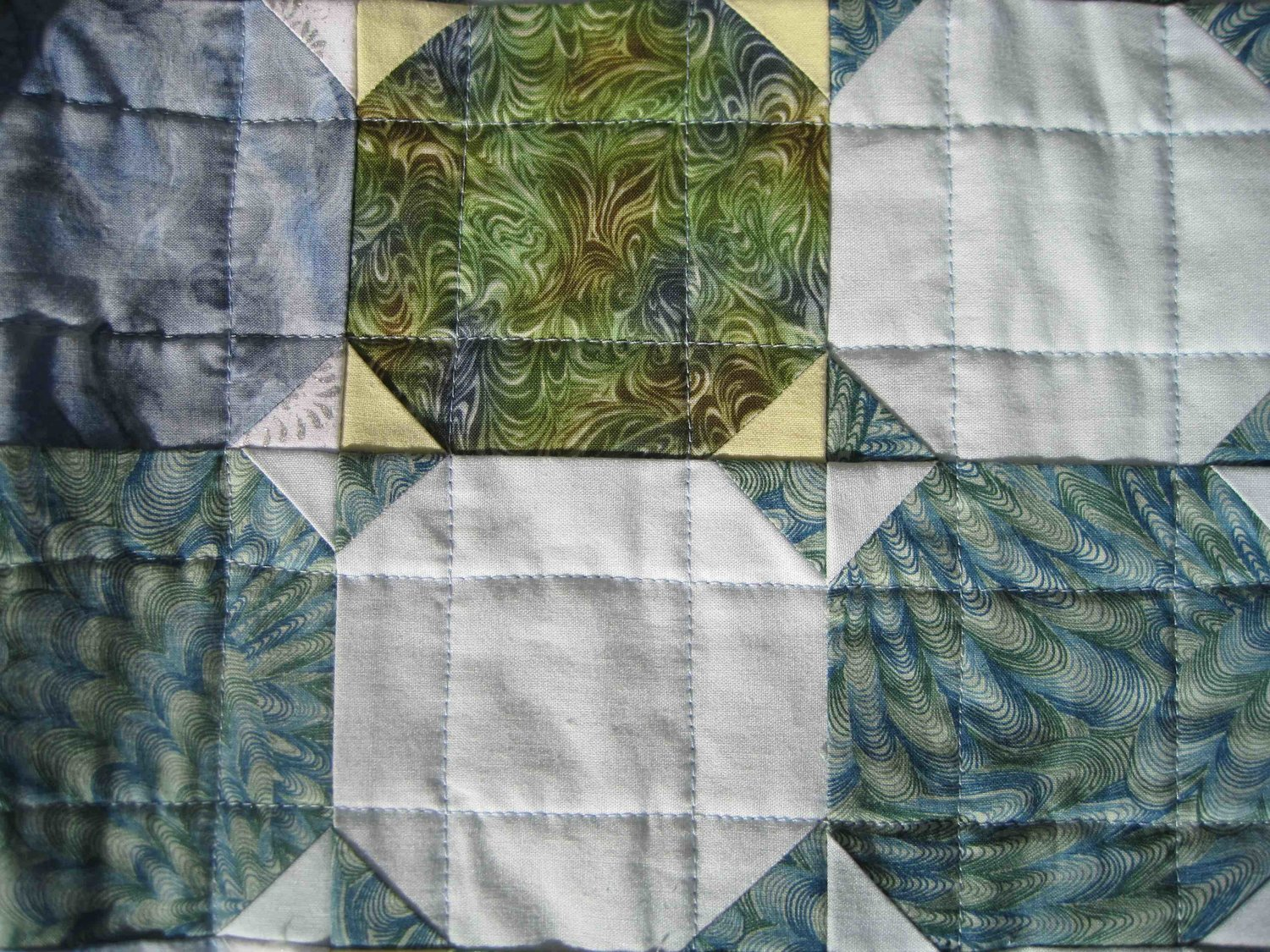 My third quilt from the early 2000's using Snowball blocks