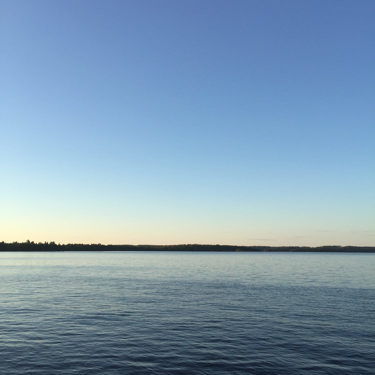 Photo taken from the dock at our cabin in Minnesota