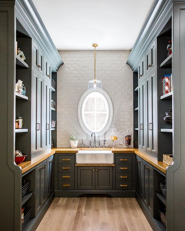 A pantry worthy of Mr. Carson. @lindsay_salazar_photography  #cabinet #cabinets #cabinetry #pantry