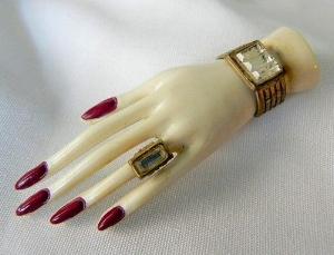 1930 Celluloid Hand Motif Brooch