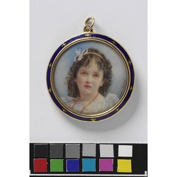 England, c. 1904   Pendant, watercolor on ivory   V&A Museum