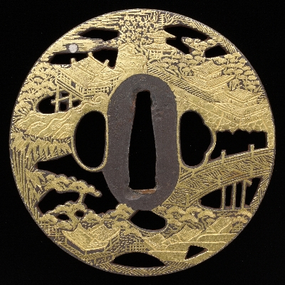 Tsuba, Kyoto, late Edo period