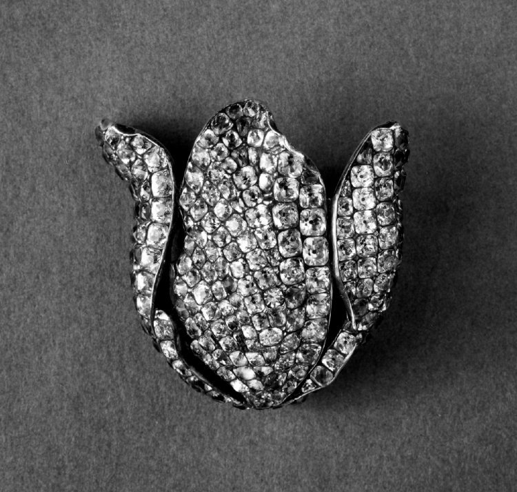 Russia, c. 1726-1775   Dress Ornament, silver with pave pastes.   British Museum