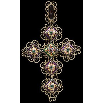 France, c. 1870 Silver-gilt filigree with Bressan enamels and coloured pastes V&A Museum