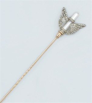 A late 19th century French diamond and rock crystal hatpin Christie's Sale 5383