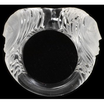 Europe, c. 1900-1950 Carved rock crystal ring. V&A Museum