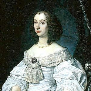 Princess Mary wearing a Fichu Held by a Fichu Brooch.   Bartholomeus van der Helst, c.1652.
