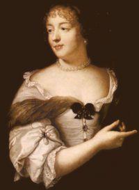 Portrait of Marie de Rabutin-Chantal, Marquise de Sévigné, wearing a 'Sévigné brooch'.   Claude Lefebvre