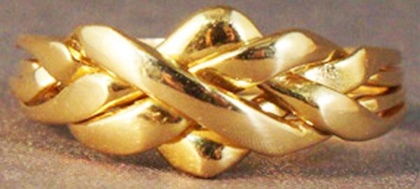 Classic Gold Puzzle Ring Closed