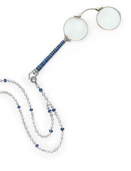 Belle Epoque Sapphire and Diamond Lorgnette   Christie's Sale 2306