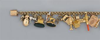 A 19th century gold charm bracelet   Christie's Sale 5647