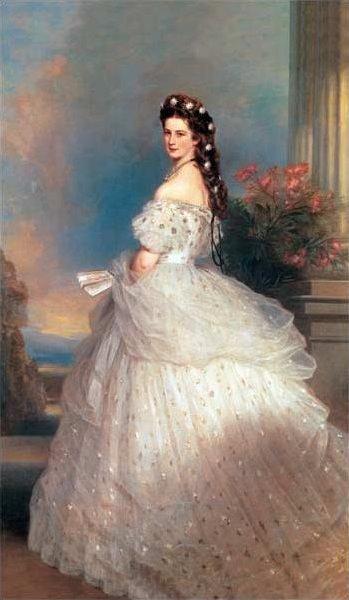 Empress Ellisabeth, by Franz Winterhalter, 1865