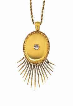 A Diamond-set gold locket   Sale 8127   Jewellery   16 January 2013   London, South Kensington
